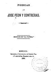 Poesias de Jose Peon y Contreras