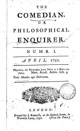 The Comedian  or Philosophical inquirer  by T  Cooke  No PDF