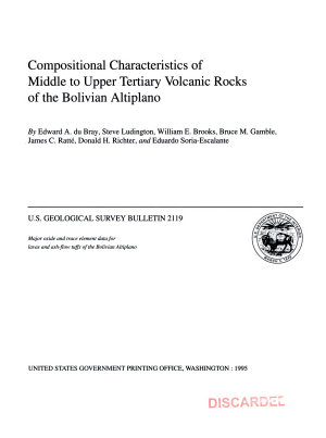 Compositional Characteristics of Middle to Upper Tertiary Volcanic Rocks of the Bolivian Altiplano PDF