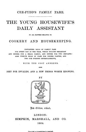 The Young Housewife's Daily Assistant