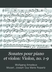 Sonates pour piano et violon: Violon, no. 1-9