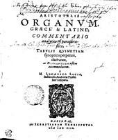 Aristotelis Organum, Graece & Latine
