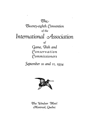 The     Convention of the International Association of Game  Fish and Conservation Commissioners     PDF