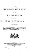 Annual Report of the Deputy Keeper of the Public Records PDF