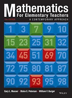 Mathematics for Elementary Teachers  A Contemporary Approach  10th Edition Book