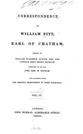 Correspondence of William Pitt: Volume 4