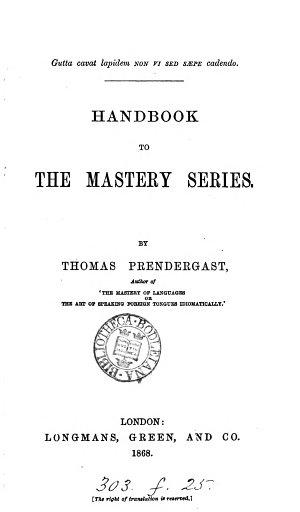 Handbook to the Mastery Series