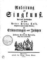 Anleitung zur Singkunst PDF