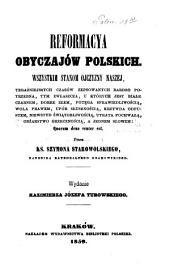 Reformacya obyczajów polskich