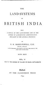 The Land-systems of British India: Volume 2