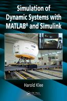 Simulation of Dynamic Systems with MATLAB and Simulink PDF