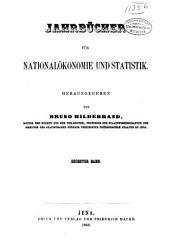 Jahrbücher für Nationalökonomie und Statistik: Band 6