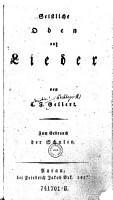 Geistliche Oden und Lieder PDF