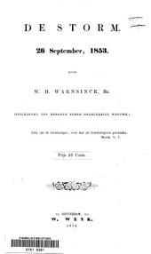 De storm: 26 sept. 1853 : (uitgegeven ten behoeve eener ongelukkige weduwe)