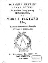 De morbis pectoris liber: Volume 1