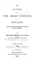 The Lives of the Chief Justices of England PDF