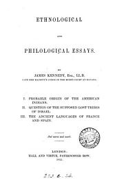 Ethnological and philological essays