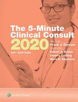 The 5 Minute Clinical Consult 2020 PDF
