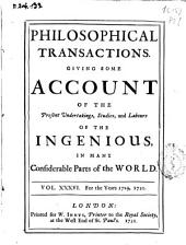 Philosophical Transactions, Giving Some Accompt of the Present Undertakings, Studies and Labors of the Ingenious in Many Considerable Parts of the World: Issues 407-416