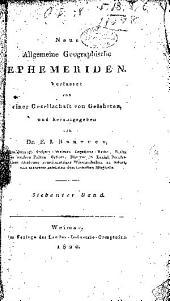 Neue allgemeine geographische und statistische ephemeriden...: 1.-31. Bd.; 1817-31, Band 7,Teil 1 -Band 8,Teil 4