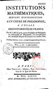 Institutions mathématiques