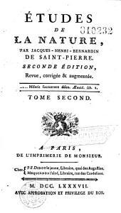Etudes de la nature par Jacques-Henri-Bernardin de Saint-Pierre,... Seconde édition, revue, corrigée et augmentée... Tome premier [-troisieme]