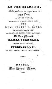 Le tre sultane: ballo pantomimo in cinque quadri : rappresentato la prima volta in Napoli nel Real Teatro S. Carlo la sera del 6 luglio 1836