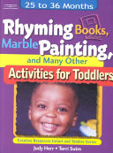 Rhyming Books Marble Painting And Many Other Activities For Toddlers