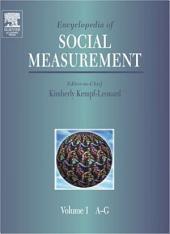Encyclopedia of Social Measurement, Kimberly Kempf & Leonard: Encyclopedia of Social Measurement,