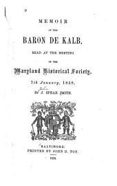 Statement No. 1. Claim of Baron De Kalb and Heirs: Statement No. 2. Allowance & Major Generals Lafayette and De Kalb