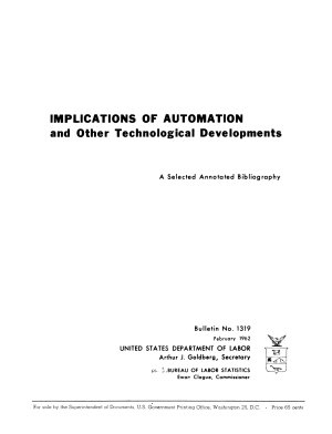 Implications of Automation and Other Technological Developments