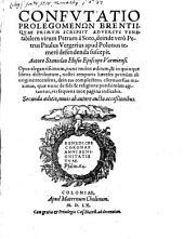 Confutatio prolegomenon Brentii ...
