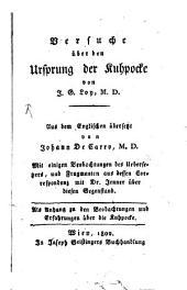 Versuche über den Ursprung der Kuhpocke