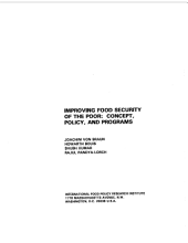 Improving Food Security of the Poor: Concept, Policy, and Programs