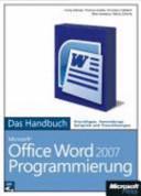 Microsoft Office Word 2007 Programmierung PDF