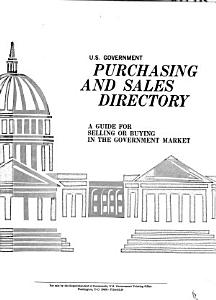 U S  Government Purchasing and Sales Directory PDF