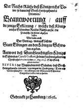Der Reichs-Räthe deß Königreichs Polen, so dann deß Groß-Hertzogthumbs Littawen Beantwortung auff diejenige Erklärung, welche deß Königreichs Schweden Reichs-Räthe an sie, die Polnische hiebevor abgehen lassen