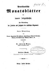Protestantische Monatsblätter für innere Zeitgeschichte: Studien der Gegenwart für die evangelische Länder deutscher Zunge, Band 3