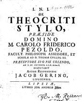 De Theocriti stylo
