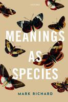 Meanings As Species PDF