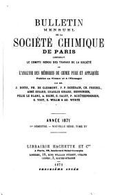 Bulletin de la Société chimique de Paris: Volumes15à16