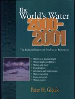 The World s Water 2000 2001 PDF