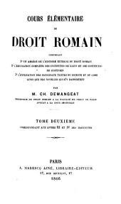 Cours élémentaire de droit romain