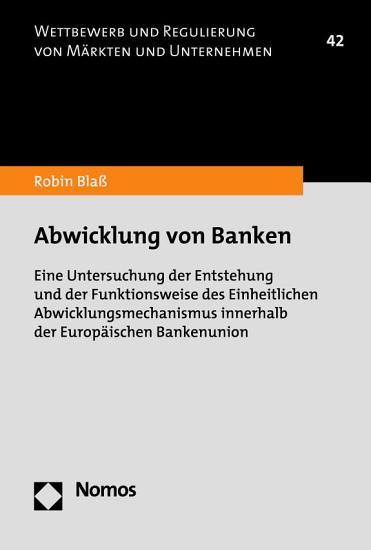 Abwicklung von Banken PDF