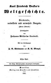 Karl Friedrich Becker's Weltgeschichte: Bände 11-12