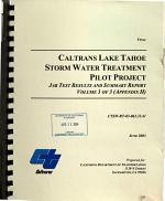 Caltrans Lake Tahoe Storm Water Treatment Pilot Project PDF