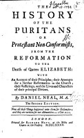 The History of the Puritans  From the Reformation to the death of Queen Elizabeth PDF
