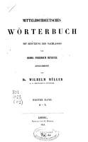 Mittelhochdeutsches W  rterbuch PDF