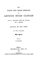 The Poems and Prose Remains of Arthur Hugh Clough  Poems PDF