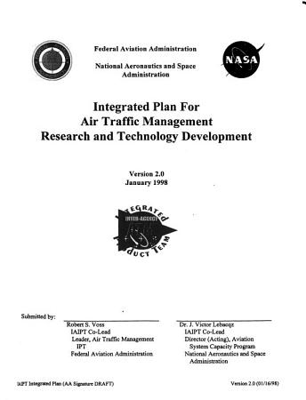 Integrated Plan for Air Traffic Management Research and Technology Development PDF
